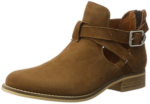 Boot Biz Botines para Cognac Marrón Short Suede Mujer Shoe qHBpx7pw