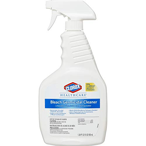 Clorox Healthcare Bleach Germicidal Cleaner Spray, 22 Ounces - Cleaner Germicidal Industrial