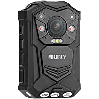 MIUFLY 1296P HD Waterproof Police Body Camera With 2 Inch Display , Night Vision , Built in 32G Memory and GPS