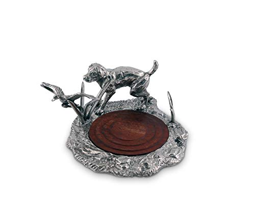 (Vagabond House Pewter Hunting Labrador and Duck Wine Coaster 5