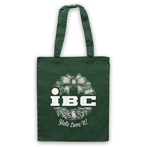 Scrooged IBC Yule Love It Bolso Verde Oscuro