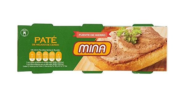 Mina Paté de Hígado de Cerdo, 3 x 70g: Amazon.es ...