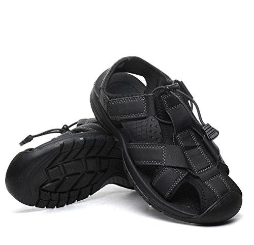 Negro Cómodo Libre Para uk9eu43 Del Camo Zapatos 42 Vadeando Verano Pie 8 Cerrado Caminar Antideslizante Eu Los Uk Hombres Sandalias Durable Ponerse dedo Aire Fftx Black De Al qwatZR