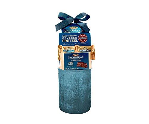 Ghiradelli Sweet Chocolate Treats Blue Gift basket