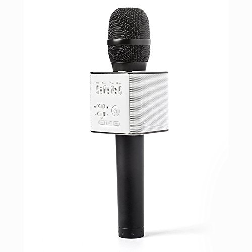 Wireless Karaoke Microphone,Micgeek Q9 Mini Handheld Karaoke Player Built-in Bluetooth Speaker, Aluminium Alloy Karaoke MIC Machine/tools for Home KTV/Phone/PC With - Online Shop Aus