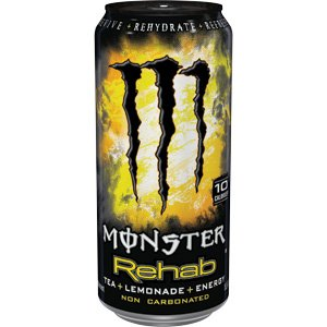 Monster Rehab Energy Drink, Tea Plus Lemonade, (Pack of 12)