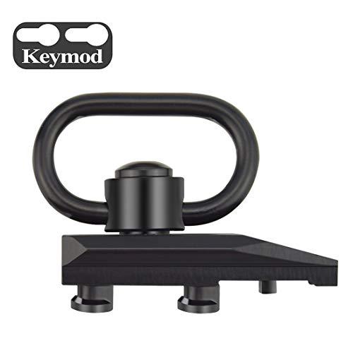 Fyland Keymod QD Sling Mount, Quick Detach/Release Heavy Duty Push Button Sling Swivel with Keymod Adaptor Base (Wedge) ()