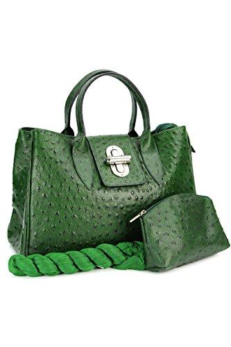 Belli, Borsa a mano donna Verde verde