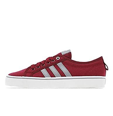 adidas Originals Nizza Lo Red Maroon White (UK 12   US 12.5   EU F ... 3f08ba481