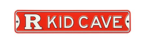 Sign Knight Room - NCAA College Officially Licensed STEEL Kid Cave Sign-Decor for sports fan bed room! ... (Rutger Scarlet Knights)