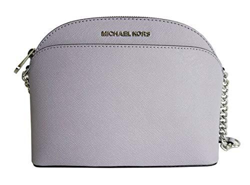Michael Kors Emmy Medium Saffiano Leather Crossbody Bag in Lilac