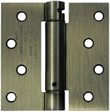 Deltana DSH44U4 Single Action Steel 4-Inch x 4-Inch Spring Hinge