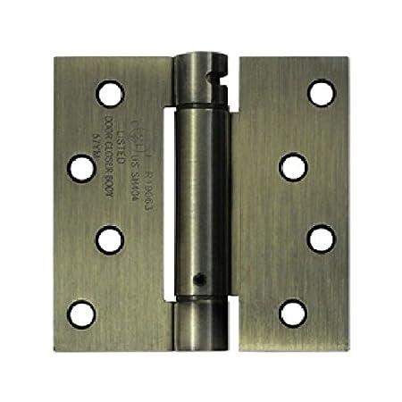 Deltana DSH44U1B Single Action Steel 4-Inch x 4-Inch Spring Hinge