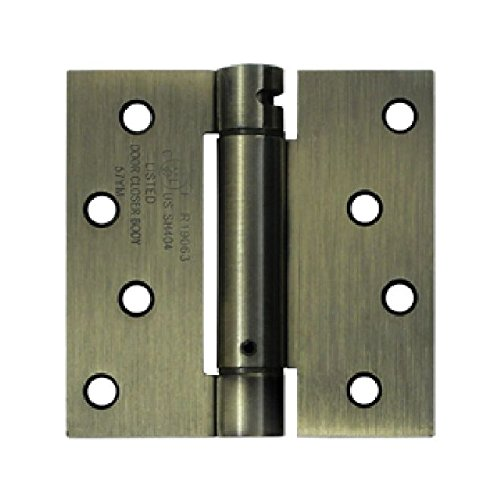 Deltana DSH44U5 Single Action Steel 4-Inch x 4-Inch Spring Hinge