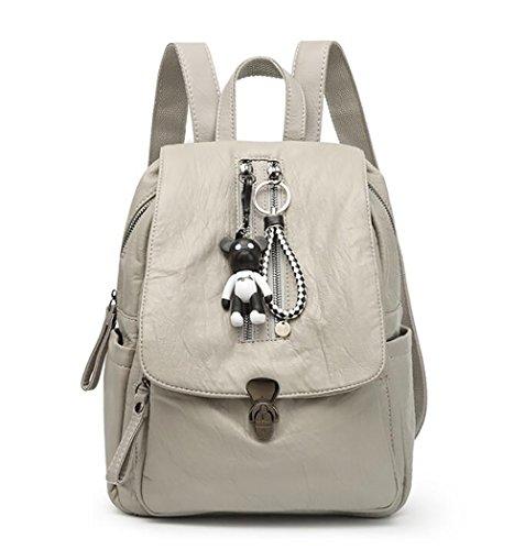 15 Casual 26 Handbag Fashion pu Bag Women's function Multi Leather Soft 30cm Backpack PwSHpgqwn