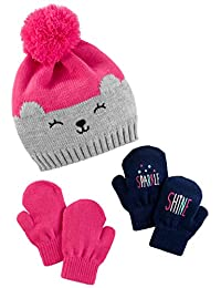 Simple Joys by Carter's Baby Girls' Hat and Mitten Set