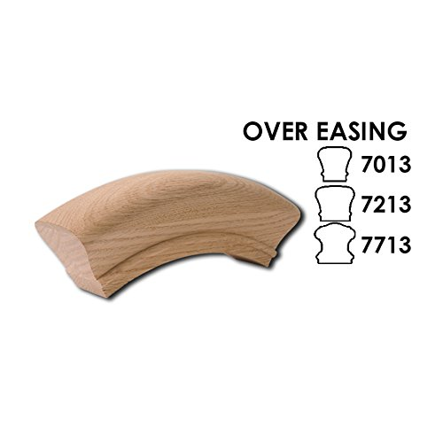 Red Oak Over Easing - 6010 Wood Staircase Handrail Fitting for Stair Remodel