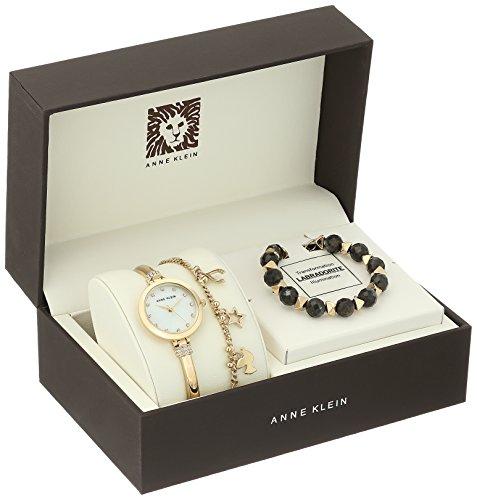 Anne Klein Women's AK/2840LBDT Swarovski Crystal Accented Gold-Tone Bangle Watch and Bracelet Set by Anne Klein (Image #1)'