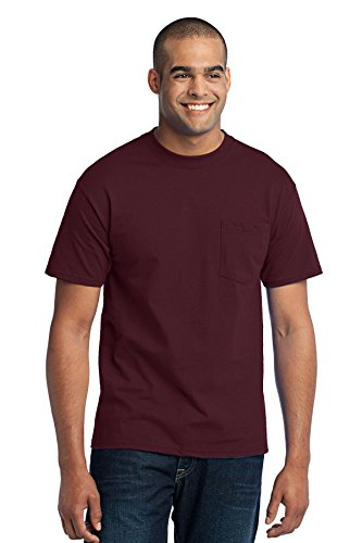 Port & Company Mens Tall 50/50 Cotton/Poly T Shirt with 2XLT Athletic Maroon