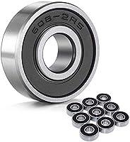 Wellgo 608-2RS Ball Bearings Skateboard Bearings Double Rubber Sealed Shielded Miniature Deep Groove Bearings