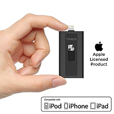 USB iFlash Drive for Apple iPhone iPad iOS Mac & PC, External Storage Memory Stick Flash Drive with Micro SD Card Slot (upto 256GB) USB 3.0 Adapter and iOS Lightning Connector [Apple MFI Certified]