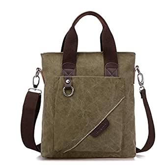 Mens Bag Messenger Bag Travel Bag Man Purse Crossbody Bags for Work Business Men's Canvas Shoulder Bags High capacity (Color : ArmyGreen)