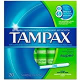 Tampax Super 20 Tampons (Pack of 24)