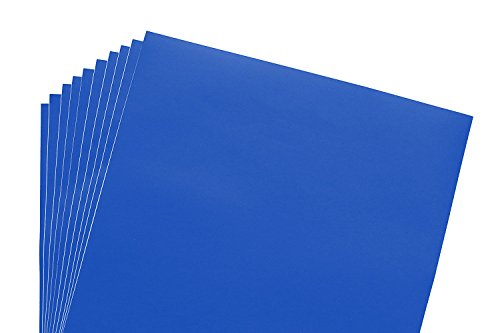 12x12 Permanent Vinyl, 10 Pack Royal Blue Outdoor Adhesive Backed Craft Sheets in Matte Finish for Silhouette and Cricut to Make Monograms Stickers Decals and Signs by Scraft Artise