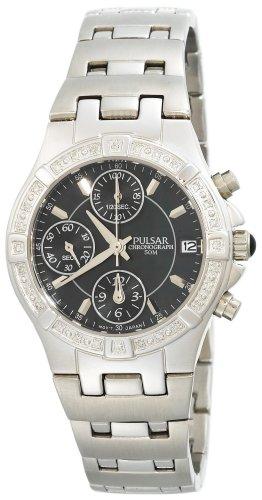 (Pulsar Women's PF8263 Diamond Black Mother Of Pearl Watch)