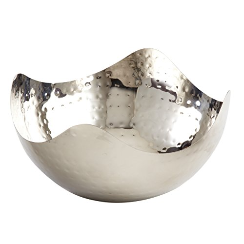 Elegance Hammered 8-Inch Stainless Steel Wave Serving Bowl