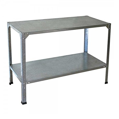 Palram Galvanised Steel Greenhouse Table Work Bench - Provides 2 Shelves - Heavy Duty