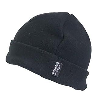 Mens Outdoor Turn Up Extra Warm Thinsulate Lined Winter Fleece Beanie Ski  Hat Fishing Walking Hiking Hat Black One Size  Amazon.co.uk  Clothing c2012bffe42