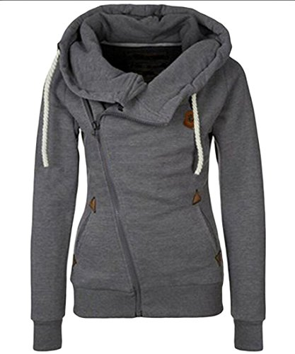 amp;S M Sweatshirts Drawstring Hoodies Casual Long Dark amp;W Womens Sleeve Grey rrpHqd