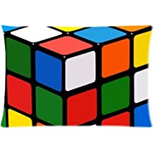 Magic Cube,Rubik's cube,cube puzzle Cotton Pillow Case Cover Standard Size 20x30 inch (one side)