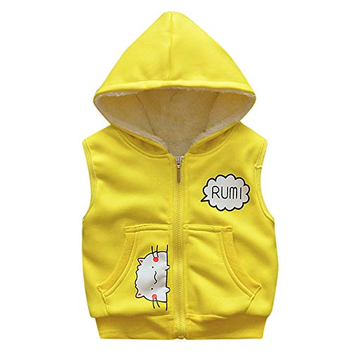 XoiuSyi,Kid Infant Cartoon Kitten Jackets Baby Toddler Warm Veat Waistcoat Clothes Hoodie Coat -
