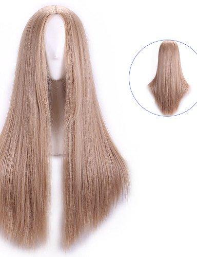 Pelucas pelucas europeos Moda pelo natual Harajuku Rubia Pelucas Cosplay económicos peruca Mujeres Peluca sintética pelucas