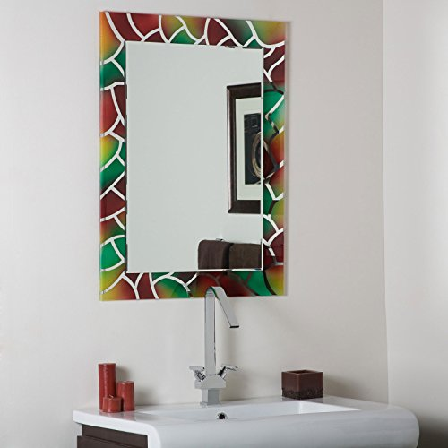 Decor Wonderland Mosaic Frameless Bathroom Mirror