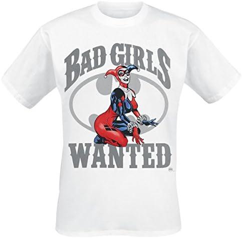 Harley Quinn Bad Girls Wanted Camiseta Blanco: Amazon.es ...