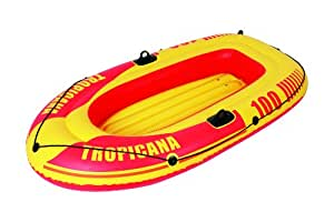 "Jilong Tropicana 100 2 Person Inflatable Boat, Yellow, 72"" x 39"" x 11"""