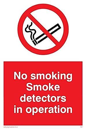 Viking signos ps7-a6p-vno fumar detectores de humo en funcionamiento signo, vinilo, 150 mm H x 100 mm W: Amazon.es: Amazon.es