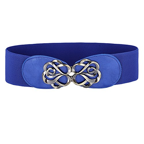 (Womens Fashion Wide Elastic Stretch Waist Belts Size S CL0413-4)