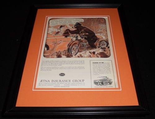 1951-aetna-insurance-group-framed-11x14-original-vintage-advertisement
