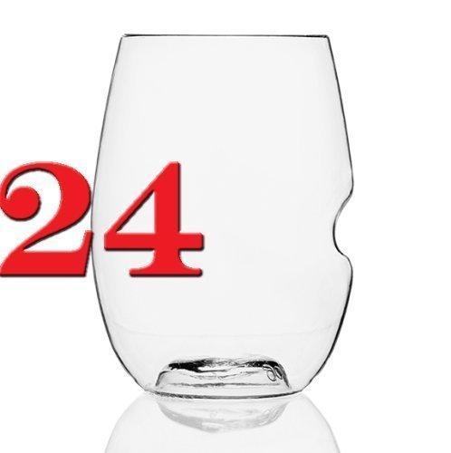 govino Stemless Shatterproof Wine Glasses - 24 Pack