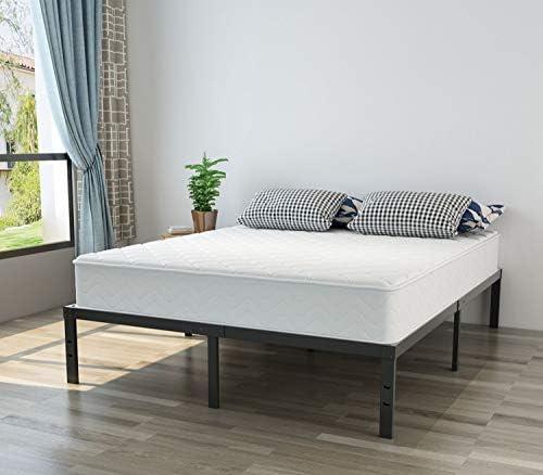 Heavy Duty Full Platform Bed Frame, NOAH MEGATRON 14 Inch Mattress Foundation Bed Frame, 12 Inch Under-Bed Storage,No Box Spring Needed (Full)