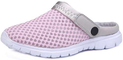 Eagsouni Men Women Slip On Clogs Casual Slide Comfort Mule Sandals Shoes Size Pink 3010xTju
