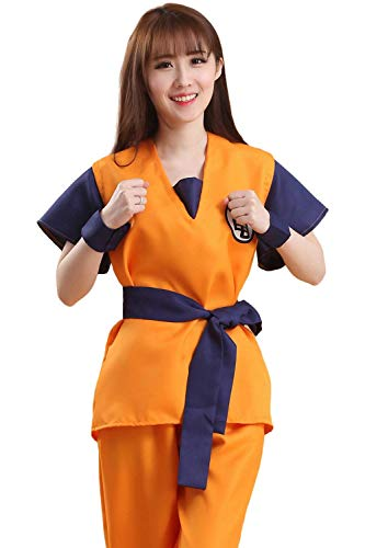 (Japanese Anime Dragon Ball Z Goku Turtle Symbol Cosplay Costumes (Small) Orange/Navy)
