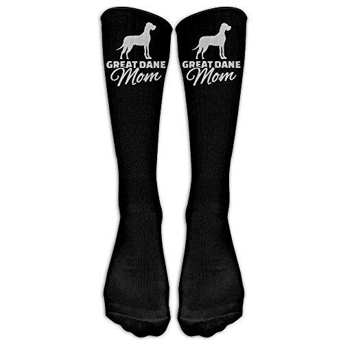 - GREAT DANE MOM Casual Unisex Sock Knee Long High Socks Sport Athletic Crew Socks One Size
