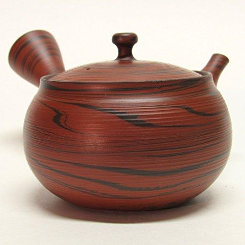 Japanese Teapot Kyusu / tokoname Kiln / pottery studio Tosen / Obi-ami (red black)
