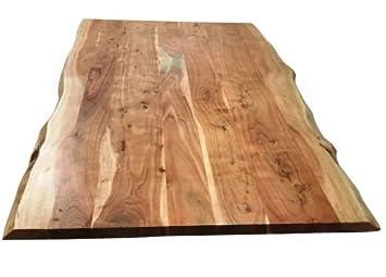 Tischplatte massivholz baumkante  Tischplatte 160x85 cm, Akazie natur, Baumkante wie gewachsen
