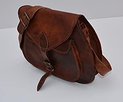 Urban Dezire Women's Leather Vintage Messenger Cross Body Bag One Size Brown